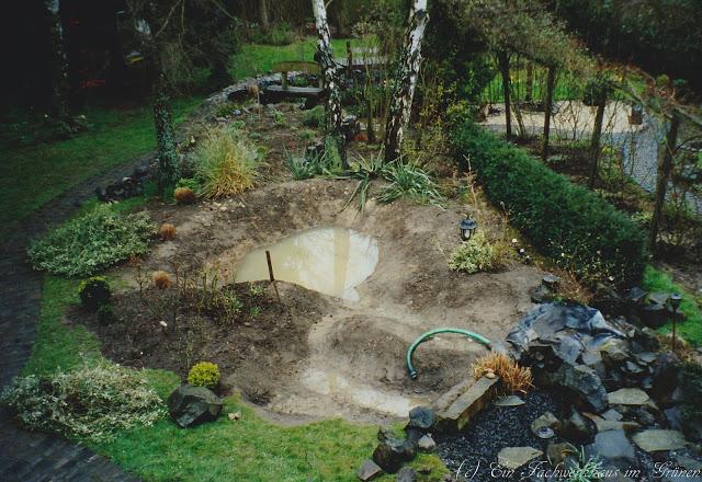 Der neue Gartenteich