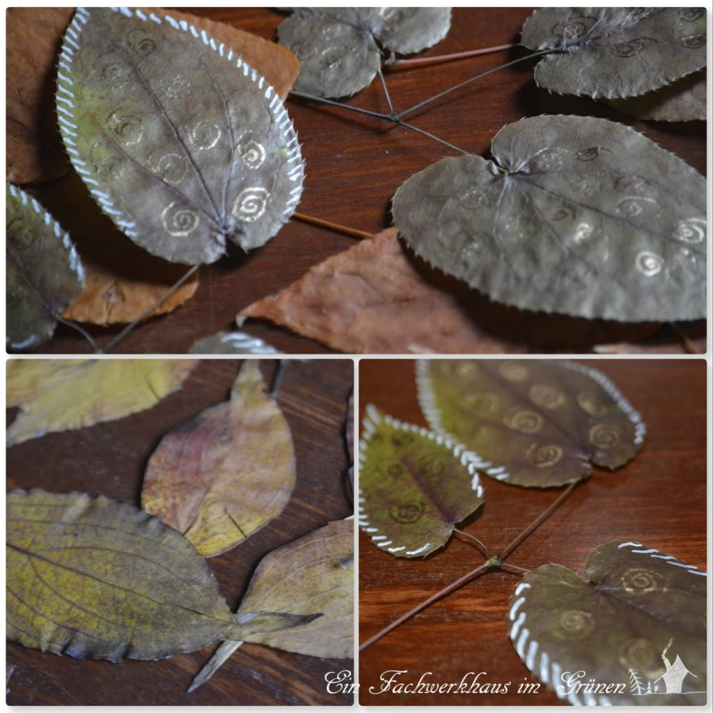 Blätter anmalen